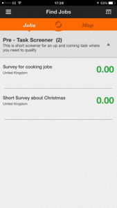 Early Task List for Field Agent on the iPhone App