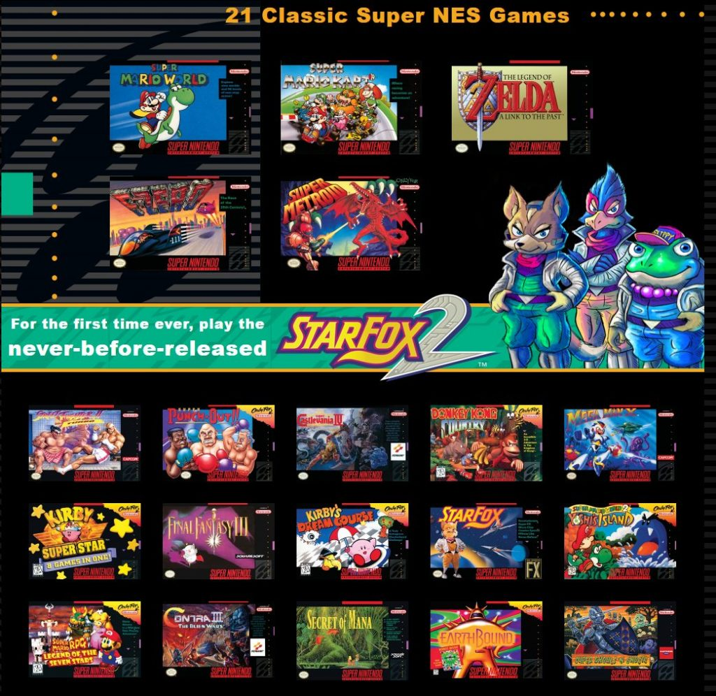 Details of all the games includes with the Cheap Snes Mini